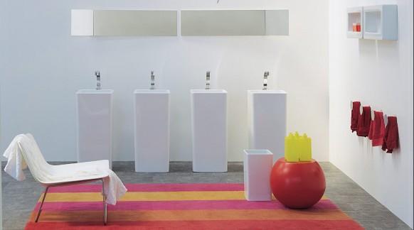 صور حمامات لون احمر