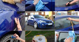 صور كيفية غسل السيارة