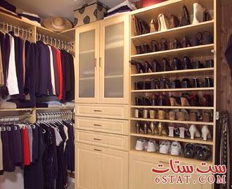 صور كيفية توضيب الملابس في الخزانة