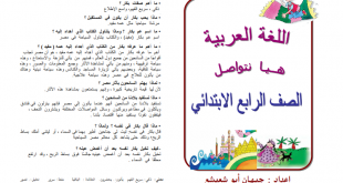 صور مذكرة لغة عربية