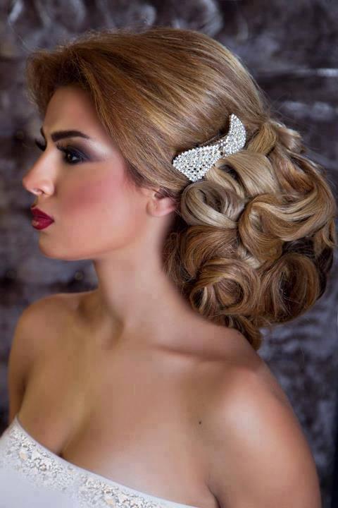 صور احدث تسريحات الشعر للعرائس