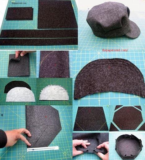صور طريقة عمل برنيطة من القماش