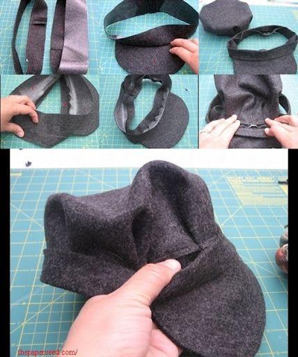 صورة طريقة عمل برنيطة من القماش