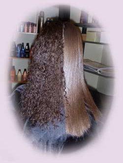 صور طريقة فرد الشعر القصير بكريم الفرد