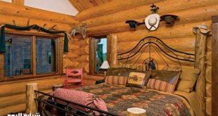 صور غرف نوم خشب طبيعى