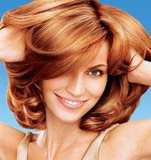 صور اللون النحاسي في الشعر