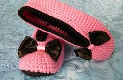 صور حذاء كروشيه للاطفال بالباترون