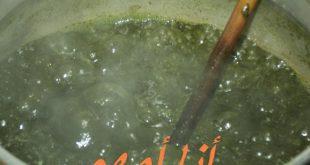 صور طبخ الملوخية التونسية