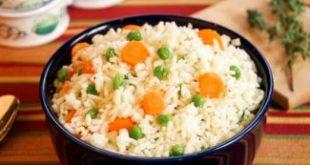 صورة ارز بالبسلة الجزر