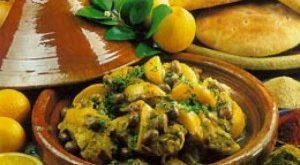صور طاجين بالدجاج والبصل