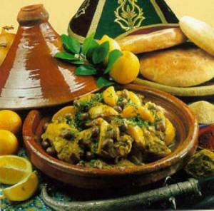 صورة طاجين بالدجاج والبصل