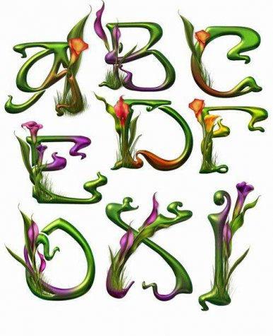 صور حروف انجليزية مزخرفة جديدة